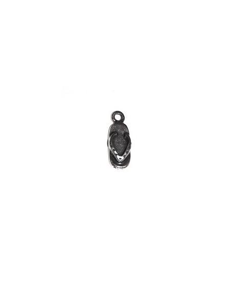 Colgante chancla 15x6mm, zamak baño de plata