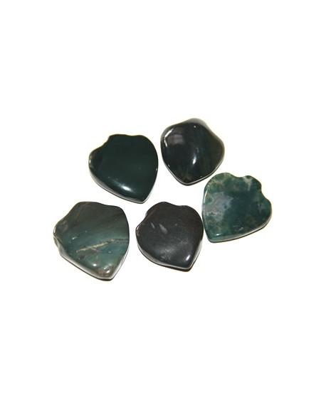 Jade de Nigeria forma punta de flecha, 35-25 cm, paso 1mm, precio por 5 unidades
