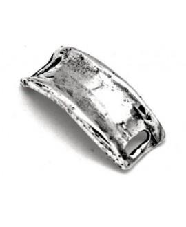 Pasador pulsera 23mm paso 10x3mm, baño de plata