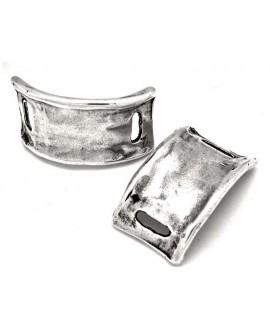 Pasador pulsera 32mm paso 14x3 mm, baño plata