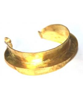 Pulsera fulani dorada, ancho 3,5cm
