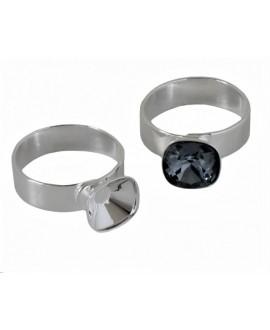 Anillo Latón sin cristal para Swarovski 4470-10mm, adaptable