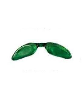 Entre-pieza alas resina verde transparente 36mm paso 2,5mm