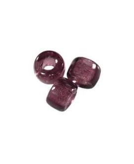 Cuenta cristal checo loops amethyst 6 mm paso 2,4mm, precio por 25 unidades