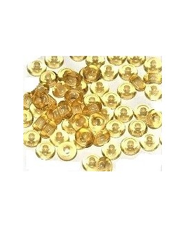 Donut resina amarillo, 4x8mm paso 2,5mm, precio por 30 unidades