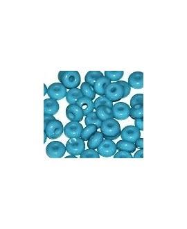 Donut resina azul cielo transparente, 4x8mm paso 2,5mm, precio por 30 unidades