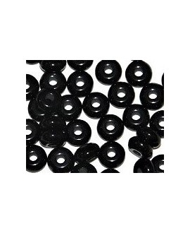 Donut resina negro, 4x8mm paso 2,5mm, precio por 30 unidades