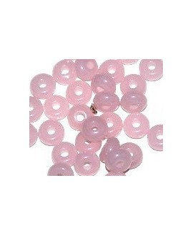 Donut resina rosa mate, 4x8mm paso 2,5mm, precio por 30 unidades