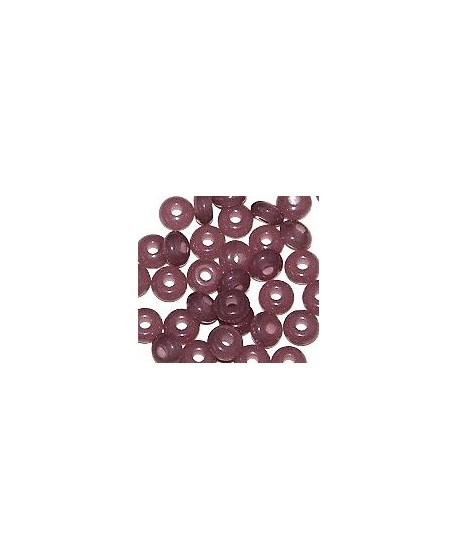 Donut resina antique pink, 4x8mm paso 2,5mm, precio por 30 unidades
