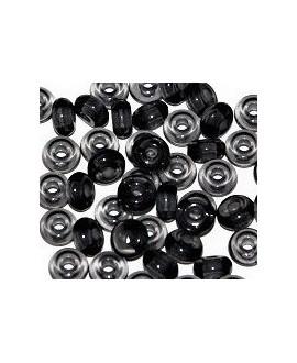 Donut resina gris, 4x8mm paso 2,5mm, precio por 30 unidades