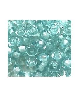 Donut resina azul celeste transparente, 4x8mm paso 2,5mm, precio por 30 unidades