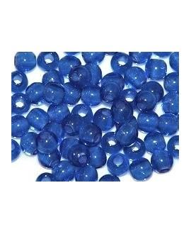 Cuenta resina azulón, 6mm paso 2,5mm, precio por 30 unidades