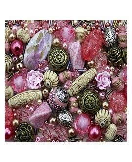 Kits Rose Garden Pink  de cuentas acrílicas, 60gr