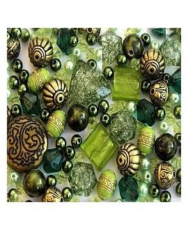 Kits Indian Ivy Green de cuentas acrílicas, 40gr