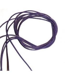 Cuero 1,5mm lila Calidad superior, precio por tiras de 1 metro