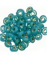 Rondel cristal indio turquesa 7x4mm paso 2mm, precio por 50 unidades