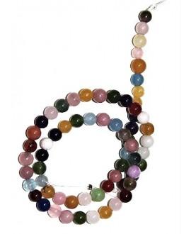 Cuentas jade multicolor 6mm, precio por ristra