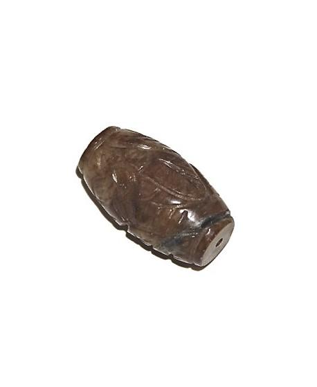 Cuentas  barril tallado de jade  47mm paso 1,5mm