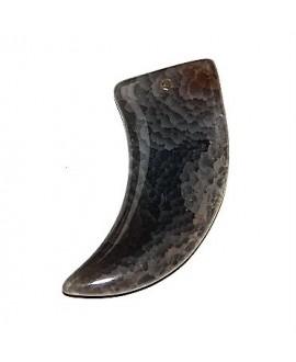 Colgante ágata cuerno 75cm, paso 2mm
