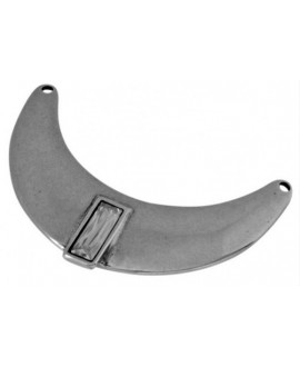 Medio collar Swarovski Silver Shade y Zamak baño de plata 130x82mm, paso 4,5mm