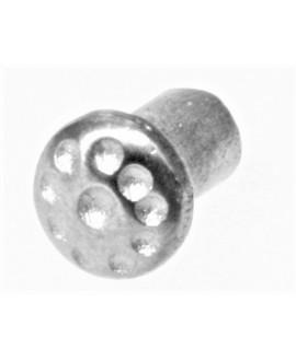 Adorno clavo para piedras, resinas puntos 10x6mm paso 3mm, zamak baño de plata
