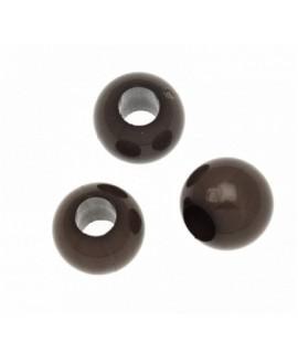 Cuenta resina marrón 8mm paso 3,5mm, precio por 20 unidades