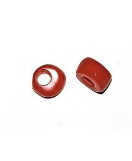 Rondel resina naranja 8x12mm paso 4mm