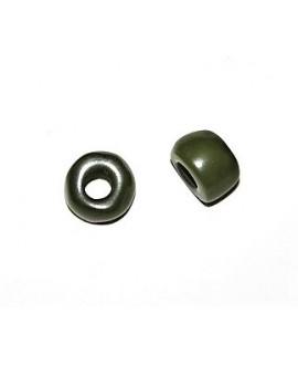 Rondel resina verde 8x12mm paso 4mm