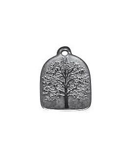 Colgante árbol de la vida 31x22mm paso 2mm, zamak baño de plata