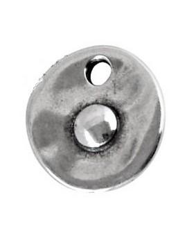 Colgante moneda 18x17mm paso 2,8mm zamak baño de plata