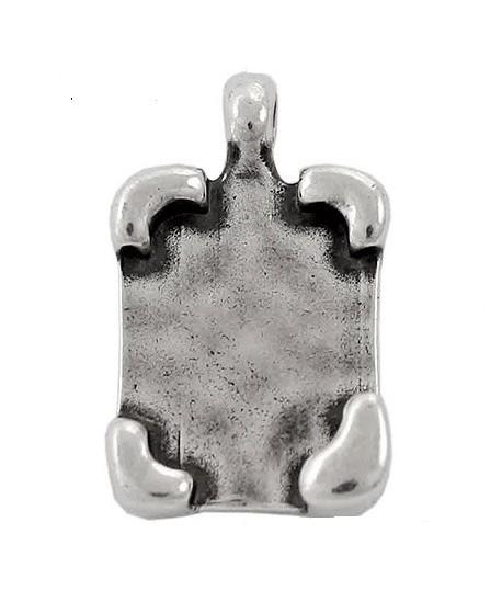 Colgante 26mm paso 4mm para resina, zamak baño de plata