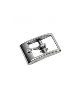 Cierre hebilla 20x14mm paso 10mm, zamak baño de plata