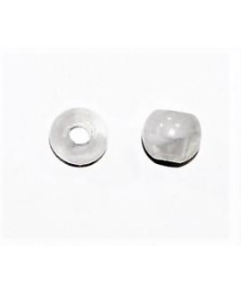 Cuenta resina efecto aguas blancas 10x12mm paso 4mm, blanco