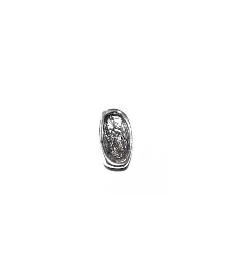 Entre-pieza 18X10,6X7,7MM para SWAROVSKI 4773 (14x7,5mm), zamak baño de plata