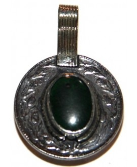 Moneda cristal  verde tribu kuchi, 28mm