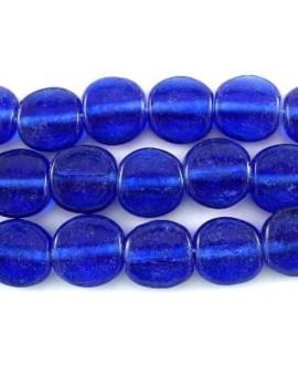 Cuentas azul cobalto de vidrio reciclado