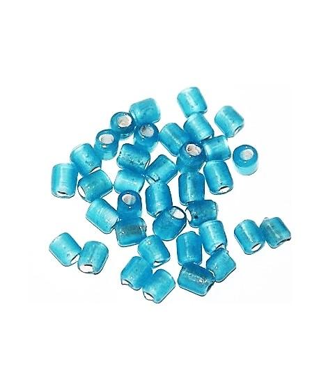 Tubo cristal indio azul cielo 5/6x4/5mm paso 3mm, precio por 20 unidades