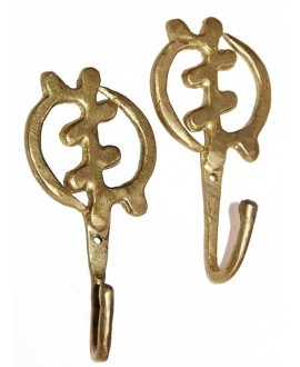 Perchas bronce 12,5x5,5CM, precio por unidad