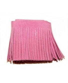 Fleco de antelina color rosa de 5x100cm