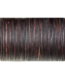 Cuero redondo 2mm, marrón. Calidad superior, precio por metro
