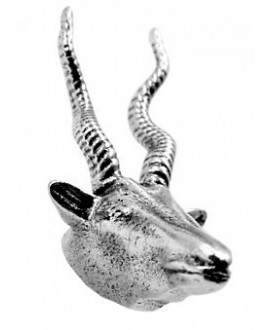 Colgante cabra montesa 40mm  de alto por  21mm de ancho, zamak baño de plata