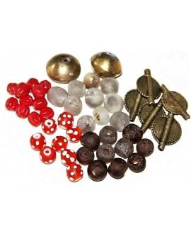 Mix- África bronce, vidrio reciclado y cuentas venecianas