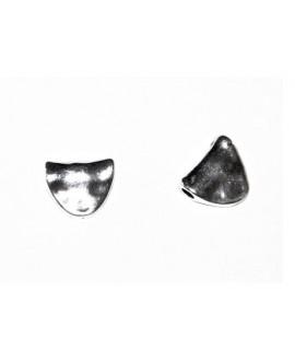 Entre-pieza 8x10mm paso 2mm, Zamak baño de plata