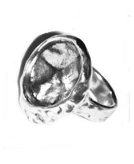 Anillo para cristal SWAROVSKI 4196 - NAUTILUS FANCY STONE 23MM, zamak BAÑO DE PLATA