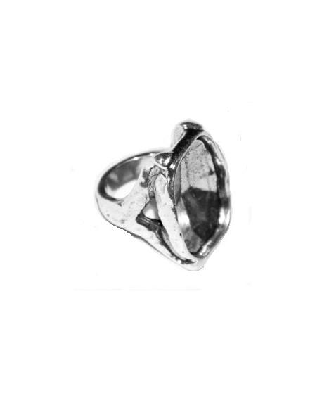 Anillo para cristal SWAROVSKI 4795, 28MM, zamak BAÑO DE PLATA