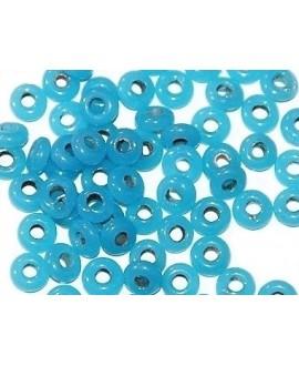 Rondel cristal indio azul cielo 7x4mm paso 2mm, precio por 50 unidades