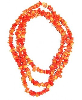 Coral chip naranja paso 1mm. precio por ristra