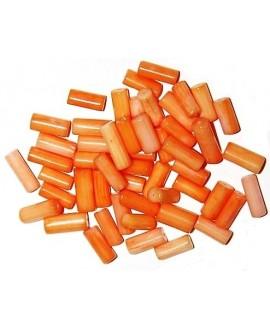 Coral naranja tubo 12x5mm paso 1mm, precio por 51 unidades