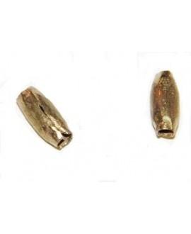 Cuenta bronce 12x5mm paso 2mm, precio por unidad