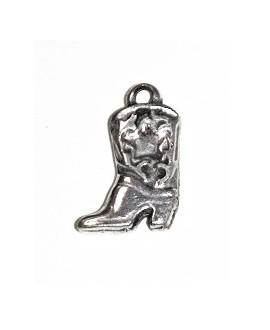 Colgante zapatos 34mm, precio por unidad, zamak baño de plata